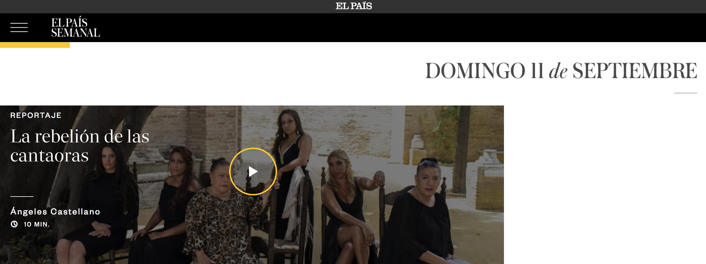 Screenshot von El Pais semanal_la rebelion de las cantaores