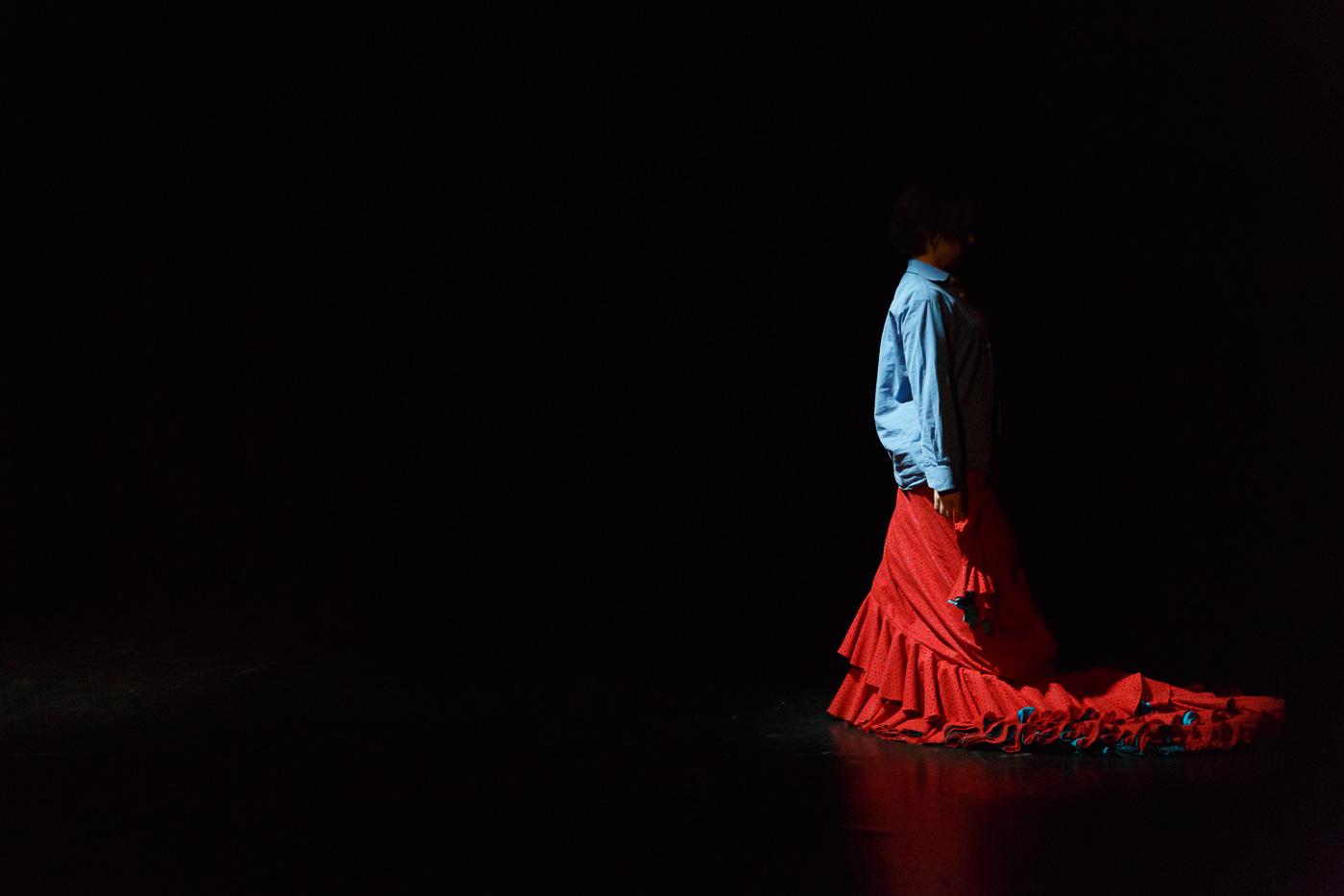 Flamencotaenzerin Julia Petschinka bei exduo_Foto von Daniel Karsch