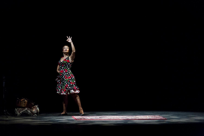 Foto Flamencotaenzerin Pastora Galvan bei der Bienal de Flamenco in Sevilla