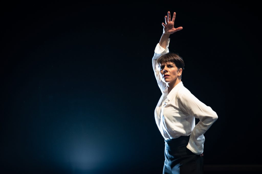 Flamenco-danseres Leonor Leal, op 20 januari 2019 in Theater Bellevue, Amsterdam. Flamenco-biënale
