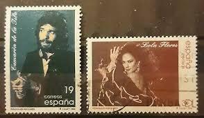 sellos Camarón y Lola