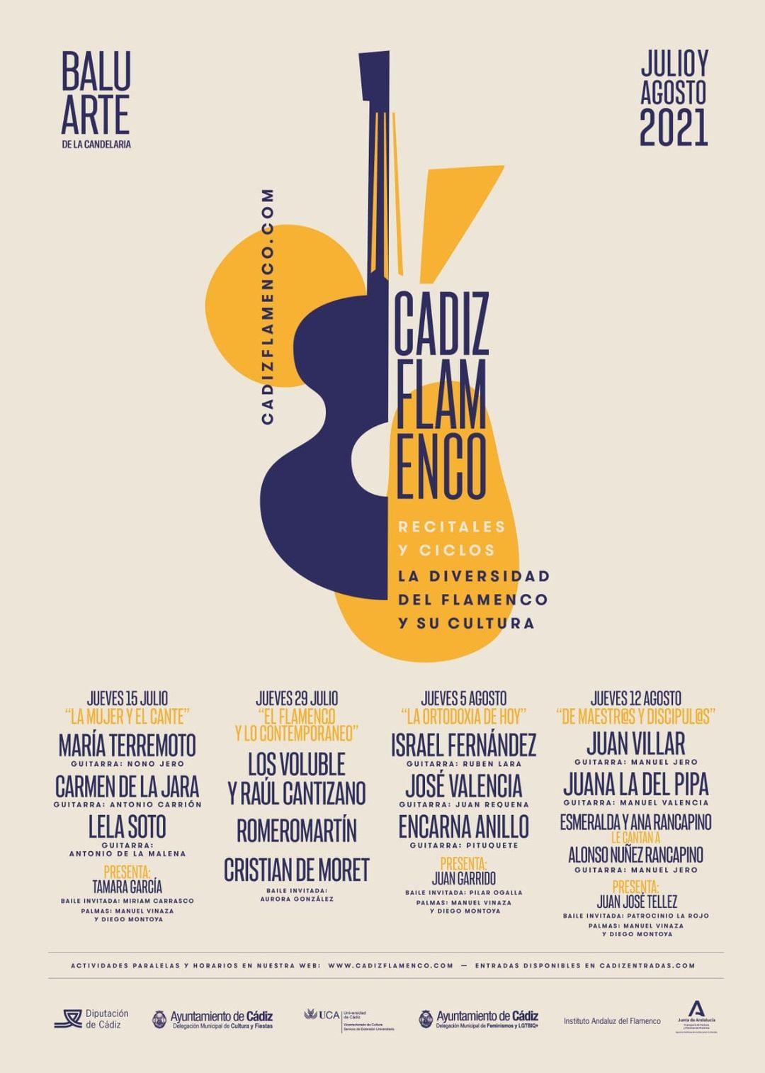 Plakat Cádiz neu flamenco